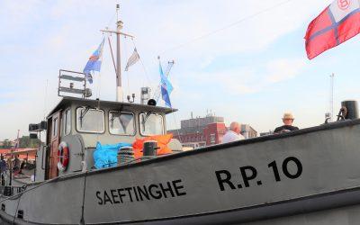 Door Rotterdamse haven met MS Saeftinghe